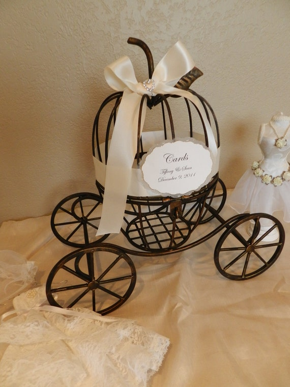 Carriage Wedding Card Holder -Fairytale, Cinderella or Fantasy Themed ...
