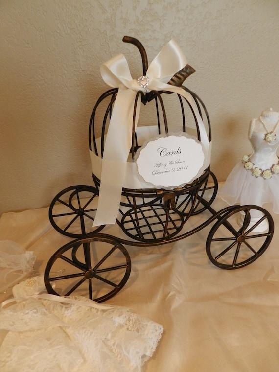 Carriage Wedding Card Holder -Fairytale, Cinderella or Fantasy Themed Wedding or Special Event