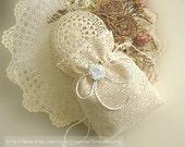 French Ecru / Ivory Lace Bridal Bag, Lace Wedding Purse, Wedding Money Bag, Church Purse or Gift Bag, Ecru/Ivory