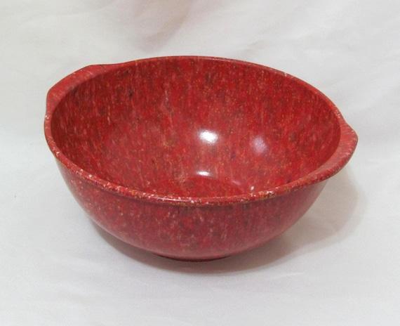 Vintage Melmac Orange Spatter Ware Confetti Bowl