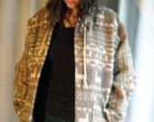Llama-Print Wool Hoodie/Sweater/Coat