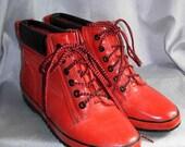 Cute Short Red Rain Boots 8