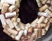 Wine Cork Wreath wall hanging-center piece