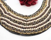 Lace Collar Applique with Sequin For Embellishing 1pc