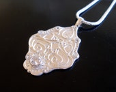 Art Nouveau Style Fine Silver Pendant and Necklace