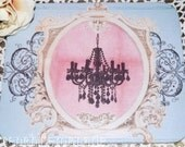 FRENcH CHaNDELIER MoUSE PaD altered art collage for your HoME or OFFIcE paris chic