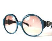 Vintage oversized blue sunglasses Jacques Esterel Paris