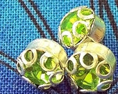 Rhinestone Buttons Tiny Peridot Green Dolls Doll Buttons Diminuitive Small Itty Bitty Little