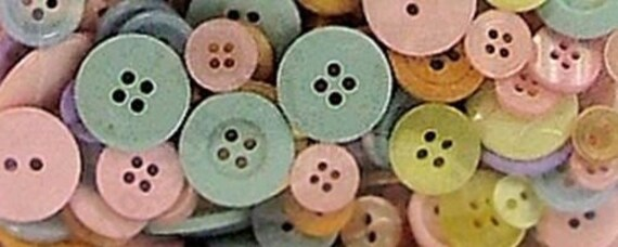 Bulk Buttons Assortment Galore Button Bonanza 8oz Pastel Muted Soft Shades Light Colors Mixture Variety Lot