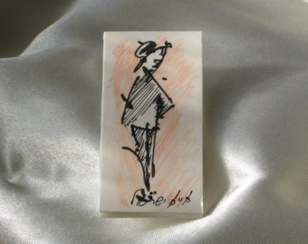A brooch with original drawing--1