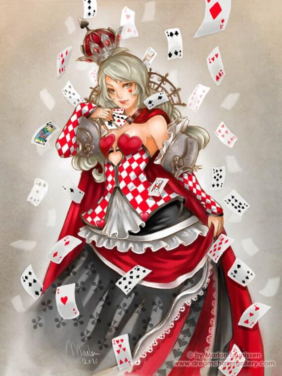 art print Queen of Cards