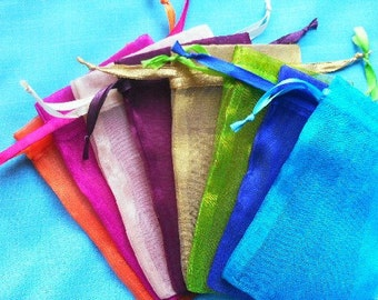 Sale Bags  set of 200 bags 4 x 6inch Mix of 8 colors Sachets handmade soap, bath salt, beads, herbs, favor bag, wedding, sample