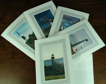 New England Lighthouses (Verticle) - set of 5
