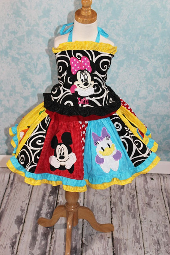 RTS Custom Boutique Pageant Over the Top Mickey Mouse Twirl Skirt Set