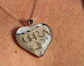 Valentine URAQT Conversation Heart Beach Writing Necklace