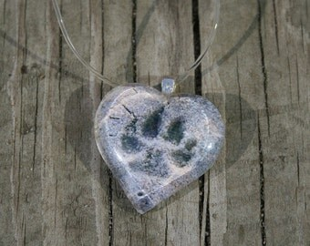 Paw Print in the Sand Beach Writing Necklace from the Jersey Shore