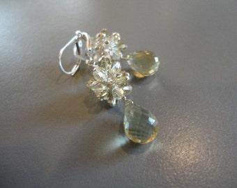 Sparkly Lemon Quartz Earrings