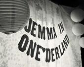 One-derland Party Banner- 1st Birthday Celebration- Custom Name
