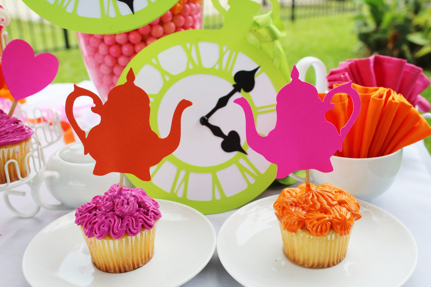 Reserved alice in wonderland party - Alice in wonderland tea party decorations ...