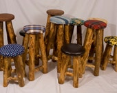 "24"" Aspen Log Bar Stool"