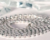 24 in ball chain  shiny silver plate great item for scrabble tile charm and Glass tile charms and pendants