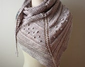Shawl Knitting Pattern / Chunky Textured Knit / Texelle / PDF Digital Delivery
