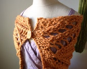 Knitting Pattern / Chunky Lace Cowl Capelet Wrap / PDF Digital Delivery / Regalia