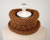 Knitting Pattern / Cowl / Nutmeg Spice / PDF DIGITAL DELIVERY