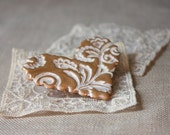 Brooch Shawl Scarf Pin / Pale Gold Filigree Heart