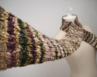 Hand Knit Scarf Knitting Pattern / Textured Chunky Acorn Acorns / Knitting DIY Tutorial / PDF Digital Delivery