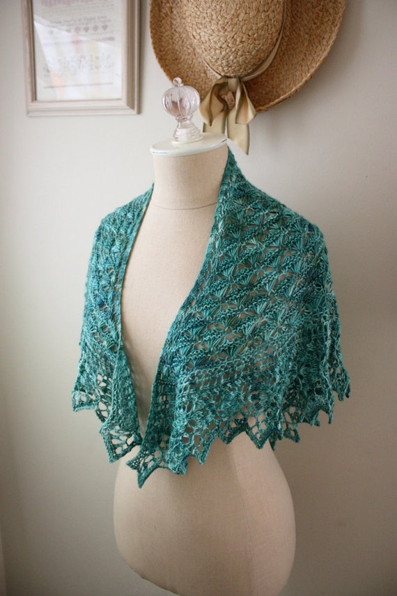 Knitting Patterns For Lace Shawls : Knitting Pattern / Lace Shawl Shawlette / by phydeauxdesigns
