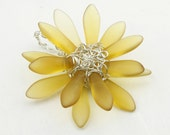 Sunflower Pendant Sterling Wire Wrapped