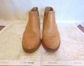 Tan/Camel Short Cowboy Booties Size 10