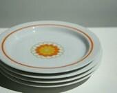 4 Georges Briard Florette bread plates