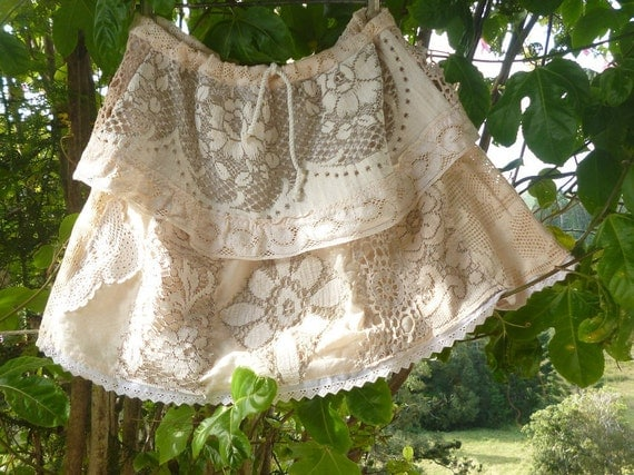RESERVED // angel trail lace skirt, short, sweet and bohemian, medium