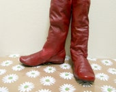 Red Boots Size 8 to 9
