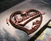 Sweetheart Banner Antique Finding, Heart-Shaped
