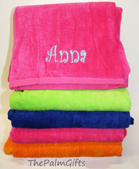Items Similar To 2 TWO Personalized Beach Towel Gifts