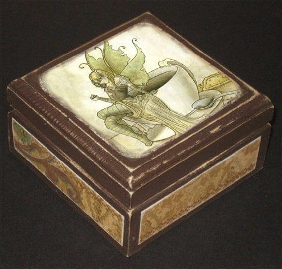 Coffee Fairy Keepsake Box