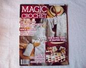 Magic Crochet Magazine, August 1985 issue 37 Vintage Crochet Pattern Booklet, Doilies, Doily Patterns, Thread Crochet pattern