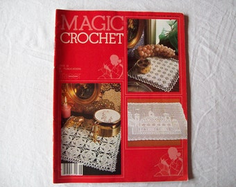 Magic Crochet Magazine, August 1983 issue 26 Vintage Crochet Pattern Book, Thread, Doilies, Doily Patterns, Thread Crochet patternss