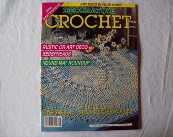 Decorative Crochet Magazine, May 1991 issue 21 Vintage Crochet Pattern Book, Thread, Doilies, Doily Patterns, Thread Crochet patterns