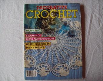Decorative Crochet Magazine, May 1989 Issue 10 Vintage Crochet Pattern Book, Thread, Doilies, Doily Patterns, Thread Crochet patterns