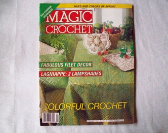 Magic Crochet Magazine, February 1993 issue 82, Crochet Pattern Book, Thread, Doilies, Doily Patterns, Thread Crochet patterns