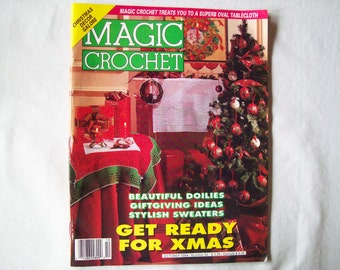 Magic Crochet Magazine, October 1994 issue 92 Crochet Pattern Book, Christmas Thread, Doilies, Doily Patterns, Thread Crochet patternss