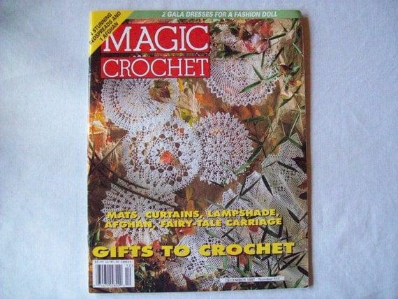 Magic Crochet Magazine, December 1997 issue 111, Crochet Pattern Book, Thread, Doilies, Doily Patterns, Thread Crochet patternss