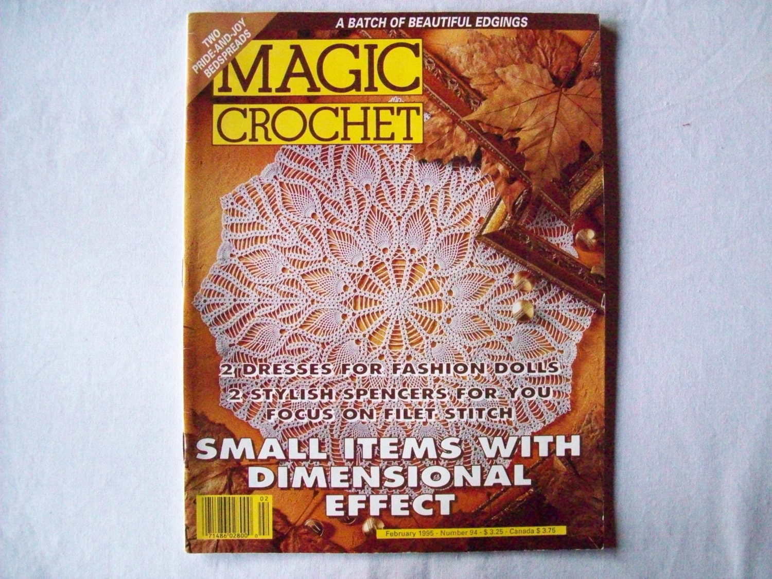 Magic Crochet Magazine February 1995 issue 94 by CozyHomeCrochet