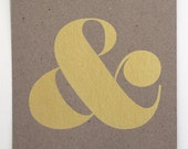 Ampersand Screen Print - Metallic Gold