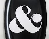 Ampersand Melamine Platter - black & white