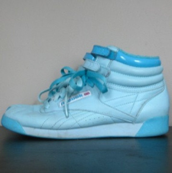 Vintage 80s Baby Blue Reebok High Tops 7 By Roseabove On Etsy